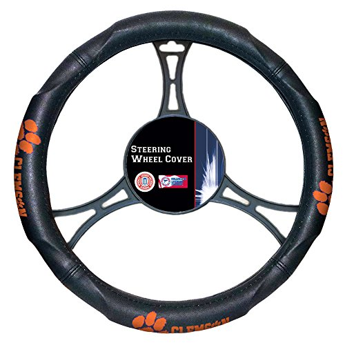 (The Northwest Company NCAA Clemson Tigers Officially Licensed Steering Wheel Cover, One Size, Multicolor)