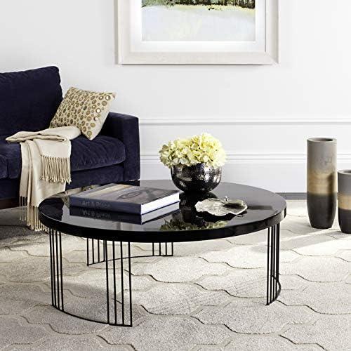 Safavieh Home Collection Keelin Mid Century Scandinavian Coffee Table, Black