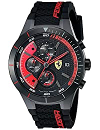 Ferrari Men's 0830260 REDREV EVO Analog Display Japanese Quartz Black Watch