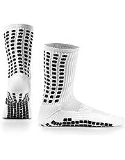 Elite Football - (2 pairs) Mid Calf Crew - No Slip Grip Socks