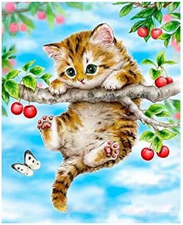 zlhcich Pintura al óleo Animal 973 Gato Colgando árbol 40 * 50 cm: Amazon.es: Hogar
