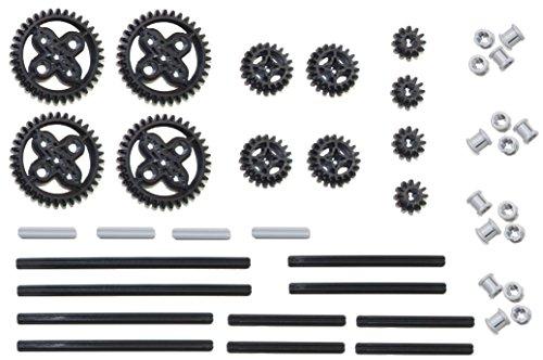 LEGO Technic 42pc Double Bevel gear axle pack SET lote (12,20,36 dientes, bujes)