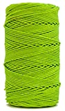 Rosary Twine, Twisted Nylon. Size #36, Lime, 1 lb 1-pack