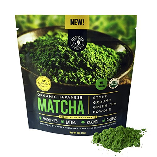Jade Leaf - Organic Japanese Matcha Green Tea Powder, Premium Culinary Grade (Preferred By Chefs and Cafes for Blending & Baking) - [30g starter size]