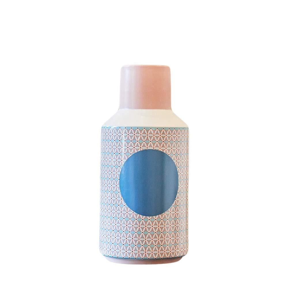 花瓶クリエイティブモダンミニマリストセラミック花瓶ホームリビングルームフラワーアレンジメント寝室テレビキャビネット柔らかい装飾小さな新鮮な装飾品 LQX (Size : M) B07SGCYK26  Medium
