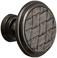 Laurey 12092 Cabinet Hardware 1-1/8-Inch Round Knob, Oil Rubbed Bronze and Madison Grey