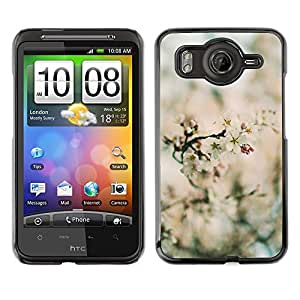 TopCaseStore / la caja del caucho duro de la cubierta de protección de la piel - Spring Blurry Blooming Flowers Plant Green - HTC G10