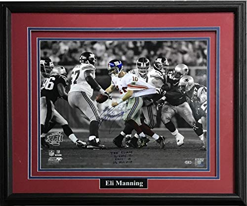 Eli Manning Autographed Signed 16x20 Photo Ins The Escape Sb MVP Framed Auto Steiner Authentic ()
