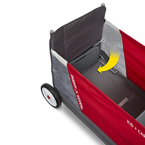 Radio Flyer Kid & Cargo with Canopy, Folding Wagon with 2 Versatile Seats, Red by Radio Flyer (Image #13)