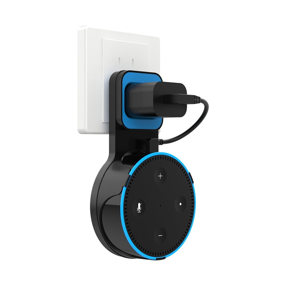 H.VIEW Echo Dot Wall Mount Hanger Stand Holder for Dot 2nd Generation, A Space-Saving Solution for Your Smart Home Speakers Without Messy Wires or Screws Full Protection Easy Mount Home Accessories by H.VIEW