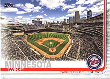 Amazoncom 2019 Topps 424 Target Field Minnesota Twins Baseball