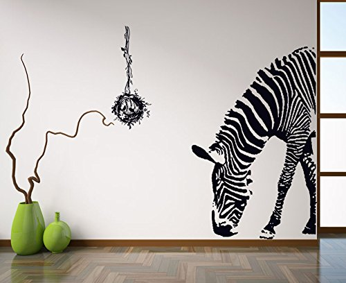 Mr.S Shop PVC Wall Stickers Zebra for Stylish Home Living Room Art Decorative Decals