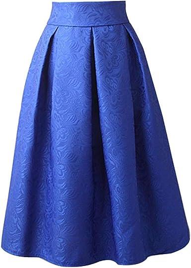Falda para Mujer, Lenfesh Mujer Falda Cortas sólido Básica ...