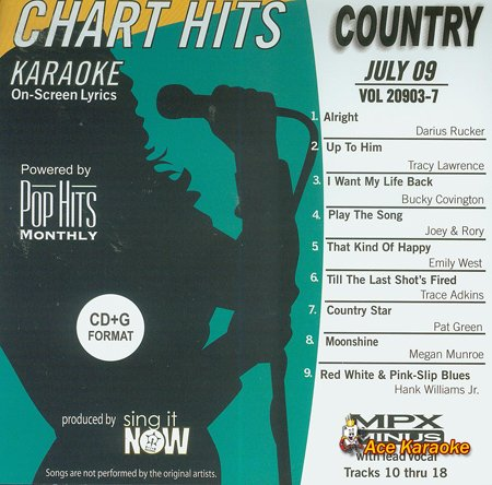 Pop Hits Monthly Country Karaoke Music CDG - July 2009 ()