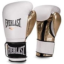 Everlast Men's Powerlock Hook/Loop Gloves, 14 oz, Black/White