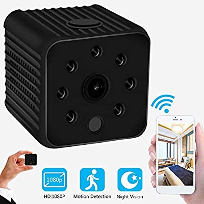 Mini Spy Camera Wireless Hidden - 1080P USB Spy Camera with Audio- WiFi Nanny Cam Built-in Battery with Night Vision and Motion Detection Mode - Great for Home, Office Recording (Black,1 PCS) by Pamela Elizabeth