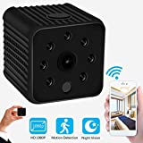 Mini Spy Camera Wireless Hidden - 1080P USB Spy Camera with Audio- WiFi Nanny Cam Built-in Battery with Night Vision and Motion Detection Mode - Great for Home, Office Recording (Black,1 PCS)