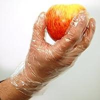Winco Disposable Food Preparation Gloves - Box of 500: Medium, polyethylene