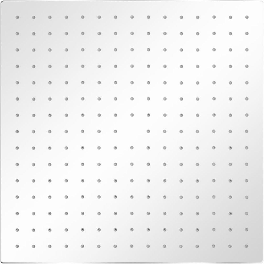 vidaXL Duschkopf Edelstahl 20x20cm Quadrat Kopfbrause Regendusche Brausekopf