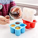 Samoii Silicone Ice Cube Shot Shape Rubber Shooters Freeze Mold Ice Ball Maker Flexible Tray for Party Whiskey Glasses