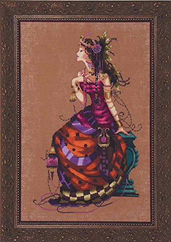 Mirabilia Designs Gypsy Queen LINEN Kit Beaded Counted Cross
