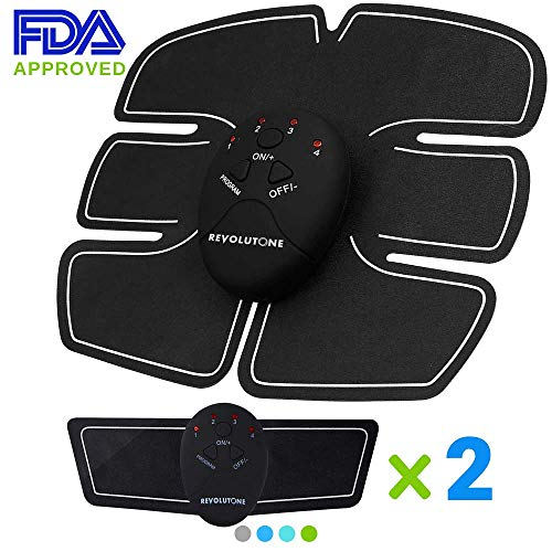 Ultimate Abs Stimulator Fitness Belt and Abdominal Toner Equipment for Muscle Adult Women and Man at Home Workout Gym