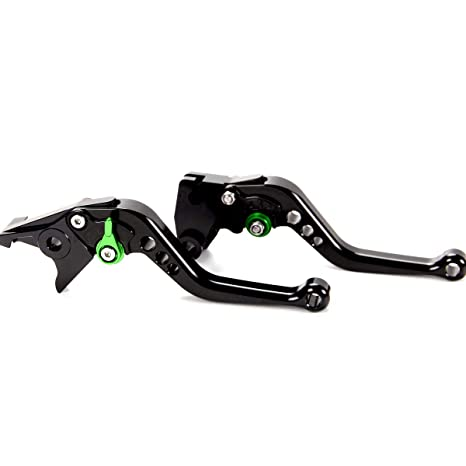 Short Brake Clutch Levers For Kawasaki ZZR600 1990-2004, ZX9R 1998-1999,