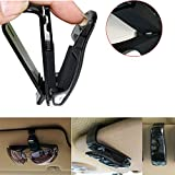 Kasstino Car Auto Sun Visor Clip Holder For Reading Glasses Sunglasses Eyeglass Card Pen