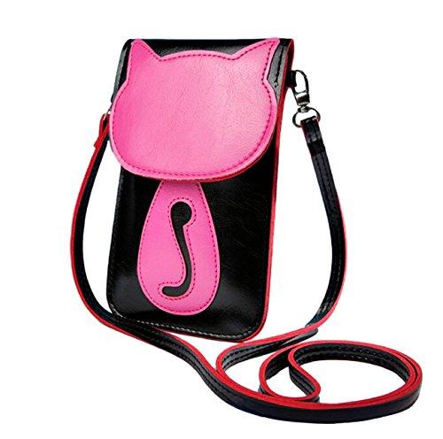 Süße bonbonfarbene Kunstleder-Umhängetasche | Schultertasche | Kosmetiktasche | Handytasche für Mädchen u. junge Frauen J24tO3hcGH