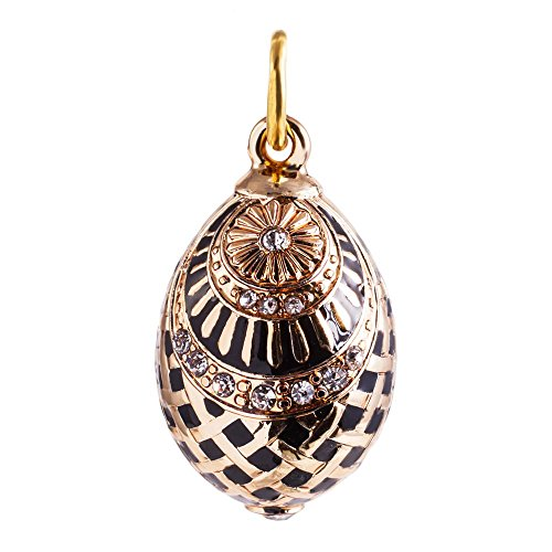 Net Faberge-Style Egg Pendant 24k Gold Plated with for sale  Delivered anywhere in USA