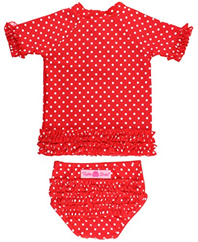 RuffleButts swim shirts red 2019