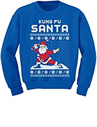 TeeStars - Kung Fu Santa Ugly Christmas Sweater Funny Youth Kids Sweatshirt