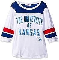 NCAA Kansas Jayhawks Women's Gridiron Tee , X-Large, White