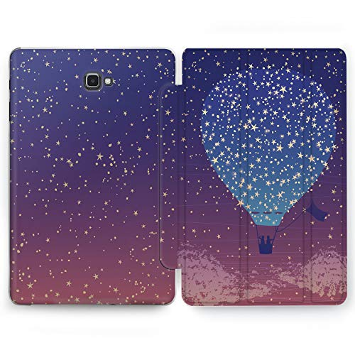 Wonder Wild Dreaming Balloon Samsung Galaxy Tab S4 S2 S3 A Smart Stand Case 2015 2016 2017 2018 Cover 8 9.6 9.7 10 10.1 10.5 Inch Clear Design Love Couple Romantic Night Sky Flying Stars Sunset Cute -