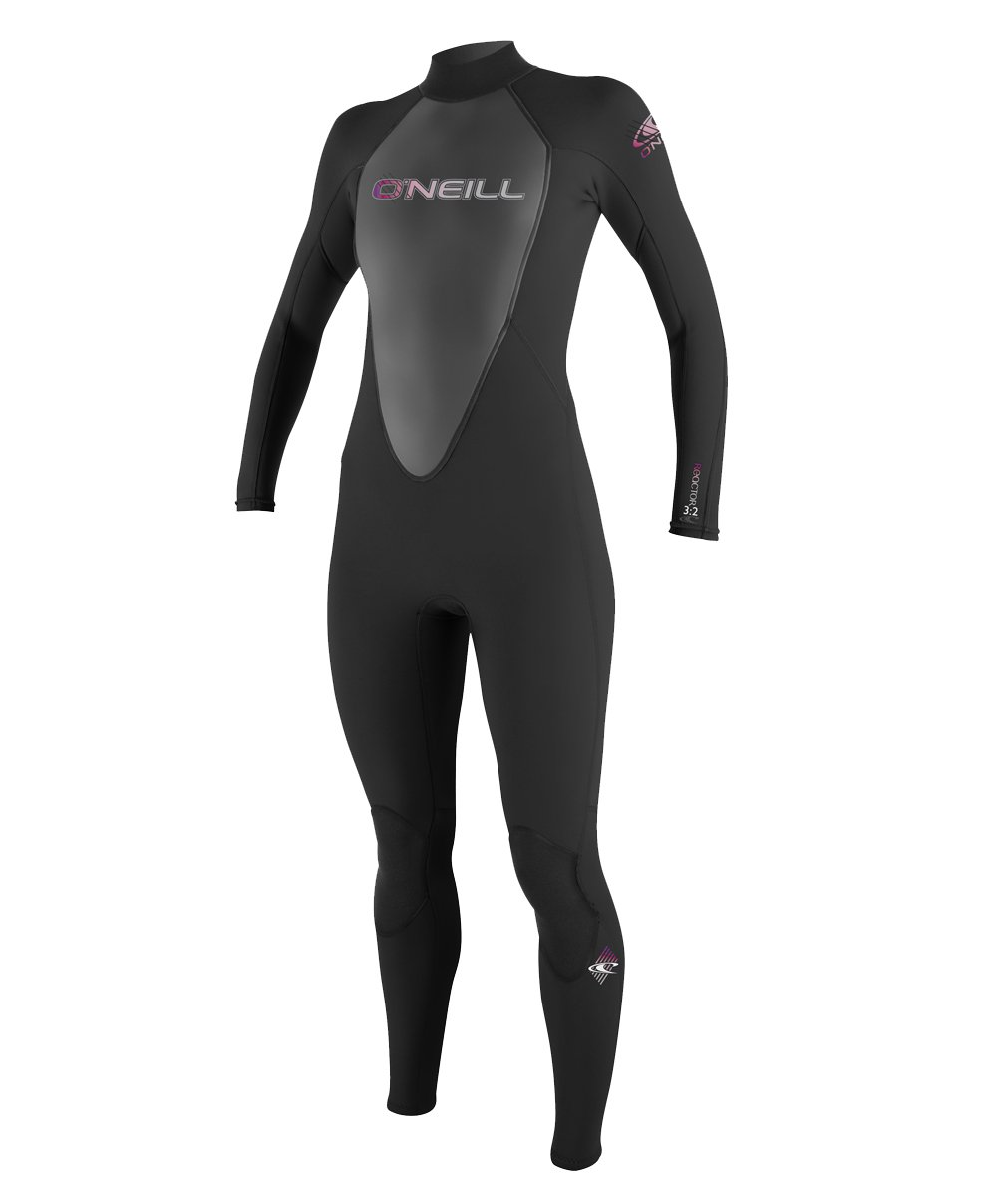 O'Neill   Womens 3/2 mm Reactor Full Suit, Black, 6 by O'Neill Wetsuits (Image #1)