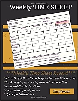 weekly time sheets series 1 weekly time log employee logbook time