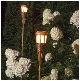 Jardín antorcha Solar antorcha lámpara de terrazas balcón lámpara de bambú Bar Caribe Flair tecnología LED con luz impermeable disponible para fiesta de Regalos Hit disparadores de coctelería Lounge Hawai escena decoración