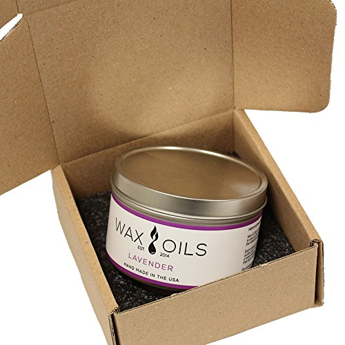 Wax and Oils Soy Wax Aromatherapy Scented Candles (Lavender) 8 ounces. Single by WAX OILS EST. 2014 (Image #2)