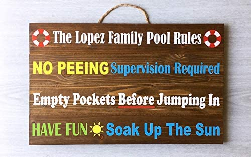 Ced454sy Schild Family Pool Rules