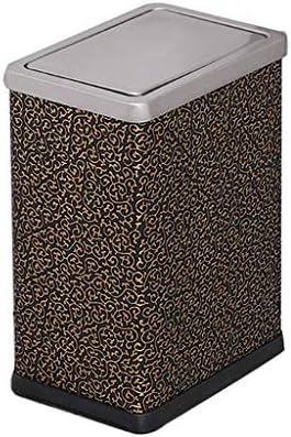 滑らかな表面 長方形ごみ箱、ステンレス製のカバーごみ箱ベッドルーム服店コーヒーショップ屋内ゴミ箱 リサイクル可能なデザイン (Color : B, Size : 10L)