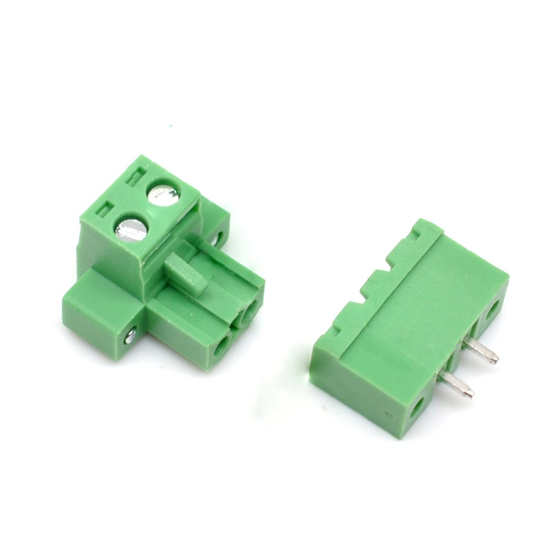 Willwin 20Pcs 5.08mm Pitch 3 Pin PCB Pluggable Terminal Blocks Connectors Green