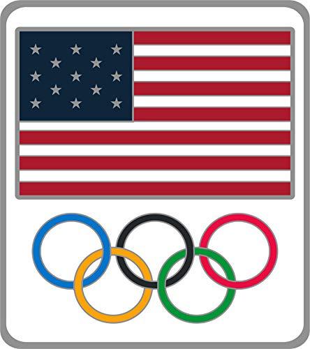 Honav USA Inc. 2020 Summer Olympics Tokyo Japan United States Flag & Olympic Rings Lapel ()