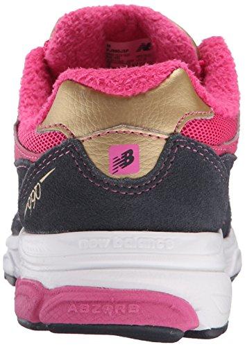 New Balance KJ990P Running Shoe (Infant/Little Kid) Pink/ Grey