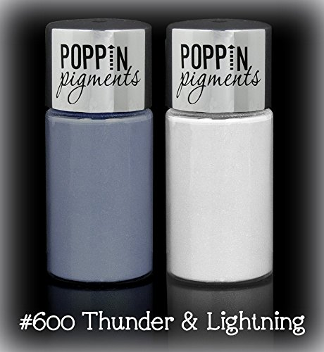 Hard Candy Poppin' Pigments Loose Eye Powder EyeShadow 2 Piece Set ~ # 600 Thunder & Lightening (Quantity - 600 Cateye