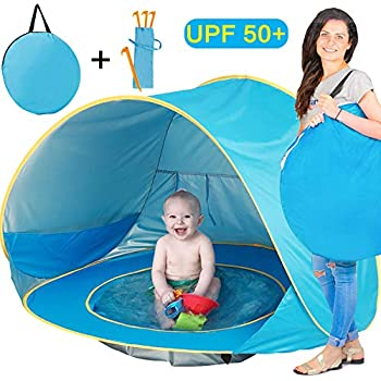 Brilliant Beach Pool Tent Baby Quick Pop Game House Easy To Fold Portable Mini Pool For Kids Children With Shade And Windproof Comfort Swimming Pool Mother & Kids