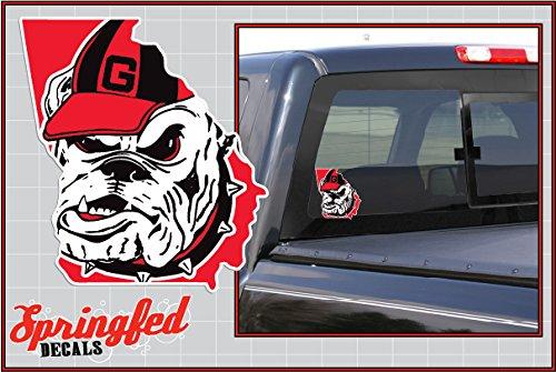 Georgia Bulldogs UGA HEAD in STATE 6