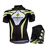ZEROBIKE® Men's Cycling Jersey Breathable Full-Zipper Comfortable Cycling Top and 3D-Padded Pant