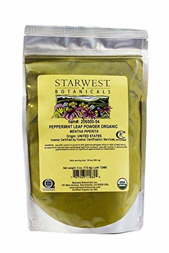 (Peppermint Leaf Powder Organic - 4 Oz,(Starwest Botanicals))
