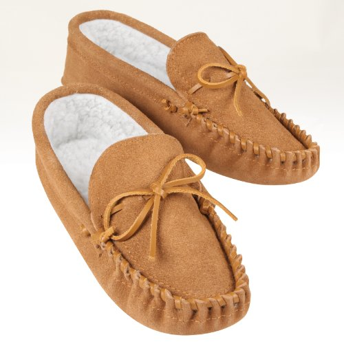 Genuine Leather Moccasins, Ladies M (7½ - 8½), Tan. 1 Pair by Dream