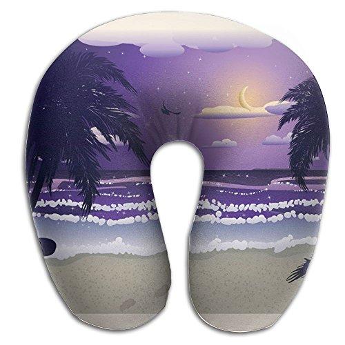 SARA NELL Memory Foam Neck Pillow Hawaii Night Beach U-Shape Travel Pillow Ergonomic Contoured Design Washable Cover For Airplane Train Car Bus Office by SARA NELL